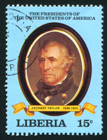 taylor: LIBERIA - CIRCA 1981: stamp printed by Liberia, shows President of the United States Zachary Taylor, circa 1981 Editorial