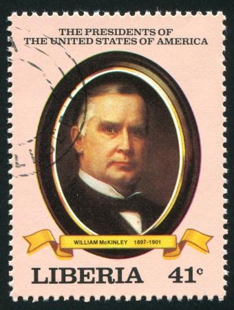 mckinley: LIBERIA - CIRCA 1982: stamp printed by Liberia, shows President of the United States William McKinley, circa 1982 Editorial