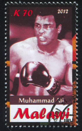 Malawi - CIRCA 2012: stamp printed by Malawi, shows Muhammad Ali, circa 2012
