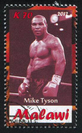 Malawi - CIRCA 2012: stamp printed by Malawi, shows Mike Tyson, circa 2012
