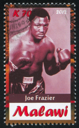 Malawi - CIRCA 2012: stamp printed by Malawi, shows Joe Frazier, circa 2012