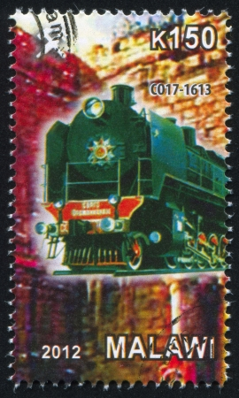 Malawi - CIRCA 2012: stamp printed by Malawi, shows Steam locomotive, circa 2012 Stock Photo - 23384208