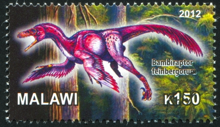 Malawi - CIRCA 2012: stamp printed by Malawi, shows Dinosaur, circa 2012