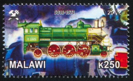 schokabsorber: Malawi - CIRCA 2012: stamp printed by Malawi, shows Steam locomotive, circa 2012 Editorial