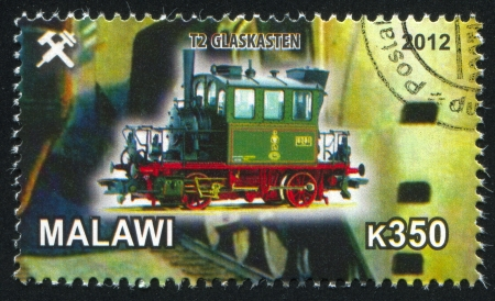 conrod: Malawi - CIRCA 2012: stamp printed by Malawi, shows Steam locomotive, circa 2012 Editorial