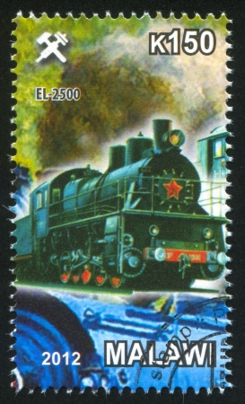Malawi - CIRCA 2012: stamp printed by Malawi, shows Steam locomotive, circa 2012
