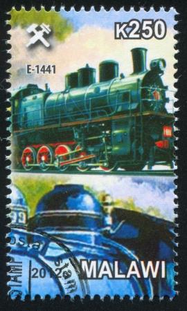 Malawi - CIRCA 2012: stamp printed by Malawi, shows Steam locomotive, circa 2012 Stock Photo - 23384328
