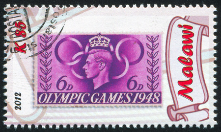 MALAWI - CIRCA 2012: stamp printed by Malawi, shows King George VI, circa 2012