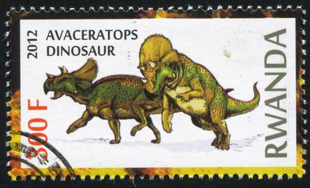 ルワンダ - 2012年年頃: 切手が...