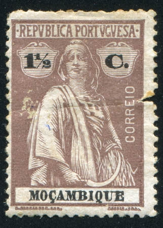 MOZAMBIQUE - CIRCA 1914: stamp printed by Mozambique, shows Ceres, circa 1914 Stock Photo - 24483640
