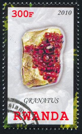 RWANDA - CIRCA 2010: stamp printed by Rwanda, shows Garnet, circa 2010 Stock Photo - 24483694