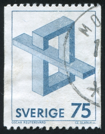SWEDEN - CIRCA 1982: stamp printed by Sweden, shows Geometric figures, circa 1982 Editorial