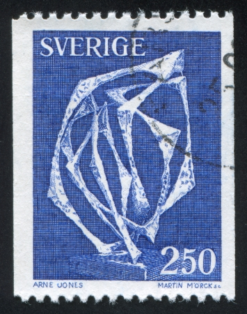 affiliation: SWEDEN - CIRCA 1978: stamp printed by Sweden, shows Space Without Affiliation by Arne Jones, circa 1978