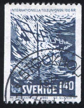 SWEDEN - CIRCA 1965: stamp printed by Sweden, shows Antenna, circa 1965