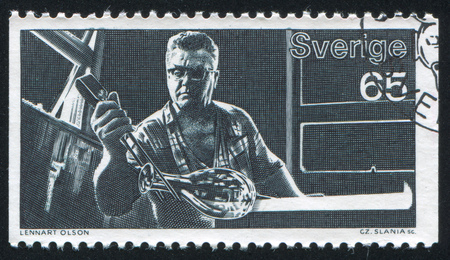 pinchers: SWEDEN - CIRCA 1972: stamp printed by Sweden, shows Annealing vase, circa 1972