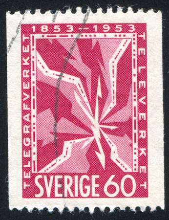 SWEDEN - CIRCA 1953: stamp printed by Sweden, shows Telegraph, circa 1953