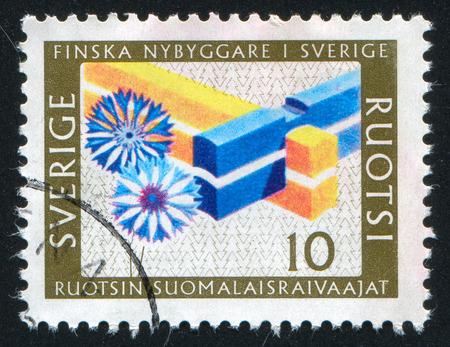 tenon: SWEDEN - CIRCA 1967: stamp printed by Sweden, shows Double Mortise Corner, circa 1967