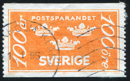 legitimacy: SWEDEN - CIRCA 1939: stamp printed by Sweden, shows Three Crowns, circa 1939