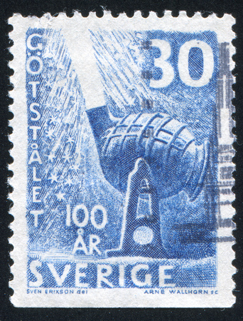 converter: SWEDEN - CIRCA 1958: stamp printed by Sweden, shows Bessemer Converter, circa 1958