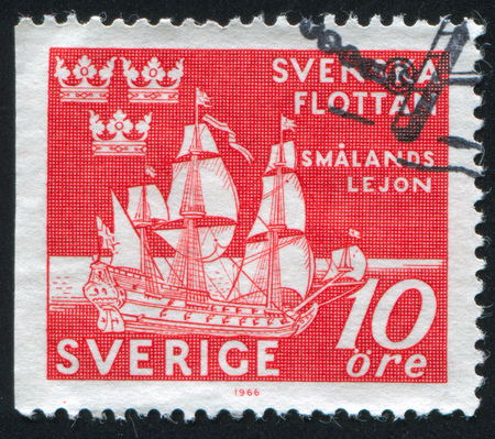 SWEDEN - CIRCA 1944: stamp printed by Sweden, shows The Lion of Smaland, circa 1944