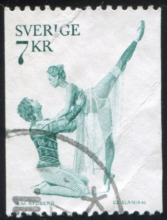 romeo and juliet: SWEDEN - CIRCA 1975: stamp printed by Sweden, shows Romeo and Juliet Ballet, circa 1975