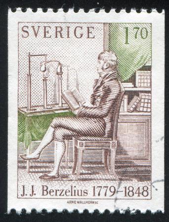 jacob: SWEDEN - CIRCA 1979: stamp printed by Sweden, shows Jons Jacob Berzelius, circa 1979