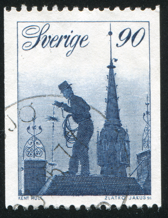 chimney sweep: SWEDEN - CIRCA 1976: stamp printed by Sweden, shows Chimney Sweep, circa 1976