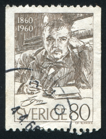 printmaker: SWEDEN - CIRCA 1960: stamp printed by Sweden, shows Anders Zorn, circa 1960