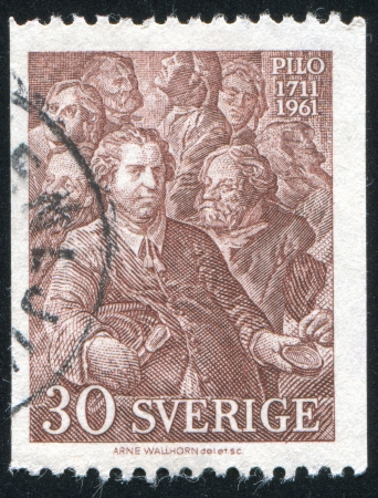 gustaf: SWEDEN - CIRCA 1961: stamp printed by Sweden, shows Karl Gustaf Pilo, circa 1961