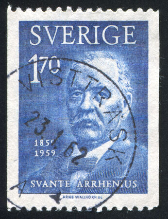 boffin: SWEDEN - CIRCA 1959: stamp printed by Sweden, shows Svante Arrhenius, circa 1959 Editorial