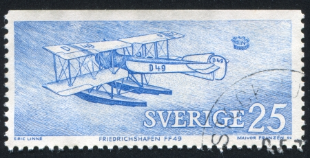 SWEDEN - CIRCA 1972: stamp printed by Sweden, shows Friedrichshafen FF49, circa 1972