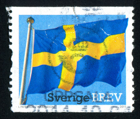 SWEDEN - CIRCA 2011: stamp printed by Sweden, shows Flag, circa 2011