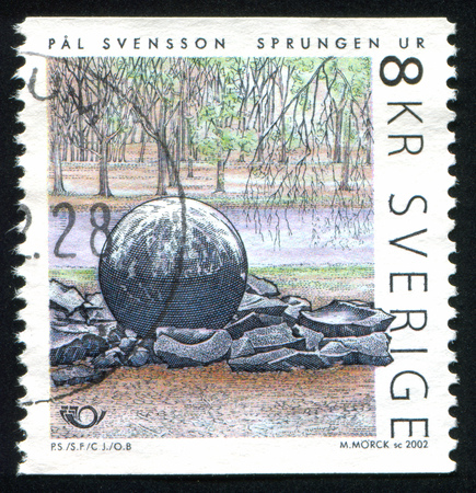 sprung: SWEDEN - CIRCA 2002: stamp printed by Sweden, shows Sprung From, by Pal Svensson, circa 2002