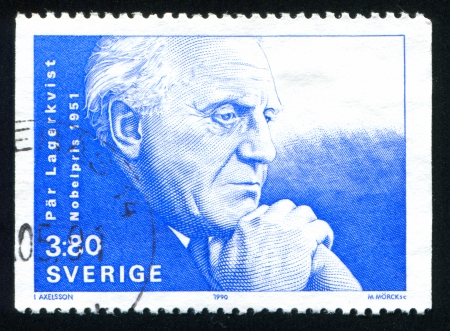 par: SWEDEN - CIRCA 1990: stamp printed by Sweden, shows Par Lagerkvist, circa 1990