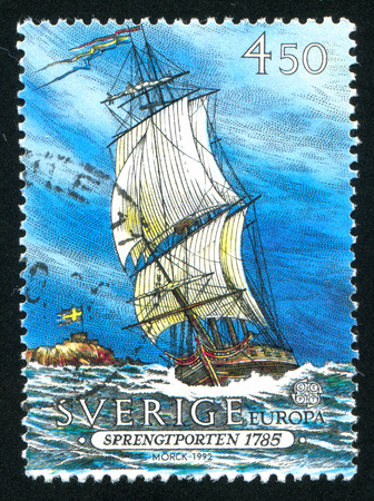 SWEDEN - CIRCA 1992: stamp printed by Sweden, shows Sprengtporten, circa 1992