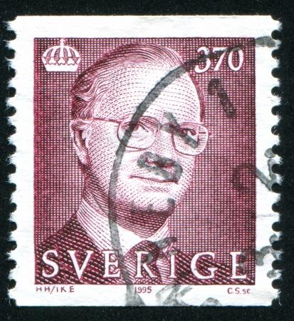 gustaf: SWEDEN - CIRCA 1995: stamp printed by Sweden, shows King Carl XVI Gustaf, circa 1995