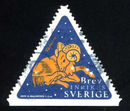 SWEDEN - CIRCA 1999: stamp printed by Sweden, shows Aries, circa 1999