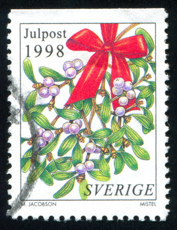 SWEDEN - CIRCA 1998: stamp printed by Sweden, shows Mistletoe, circa 1998