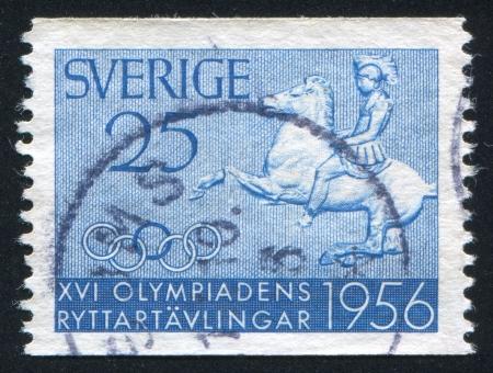 SWEDEN - CIRCA 1956: stamp printed by Sweden, shows Greek Horseman, circa 1956
