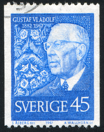 gustaf: SWEDEN - CIRCA 1967: stamp printed by Sweden, shows Gustaf VI Adolf, circa 1967