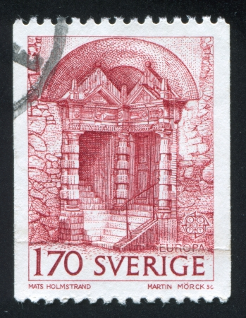 SWEDEN - CIRCA 1978: stamp printed by Sweden, shows Arch and Stairs, circa 1978