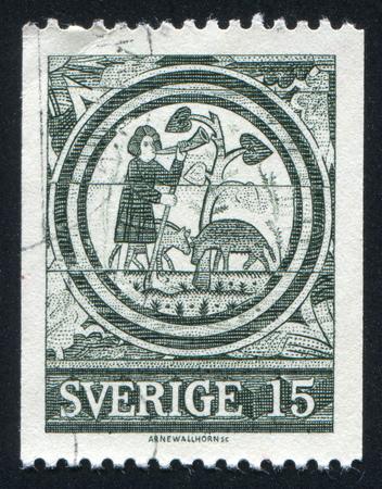 rada: SWEDEN - CIRCA 1967: stamp printed by Sweden, shows The Prodigal Son, Rada Church, circa 1967
