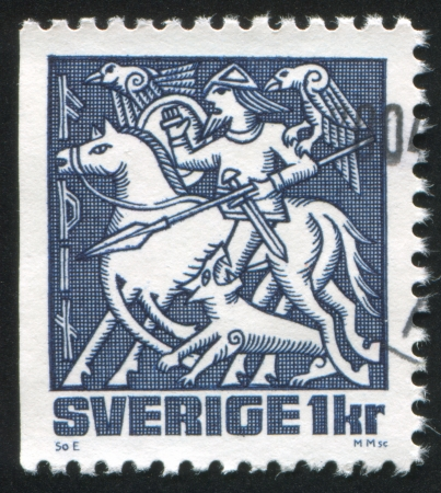 SWEDEN - CIRCA 1981: stamp printed by Sweden, shows Odin, circa 1981