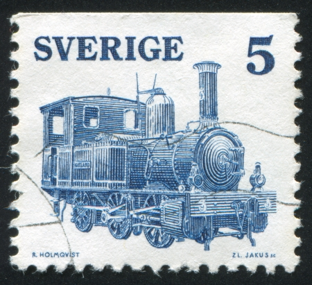 forcer: SWEDEN - CIRCA 1975: stamp printed by Sweden, shows Locomotive Gotland, circa 1975