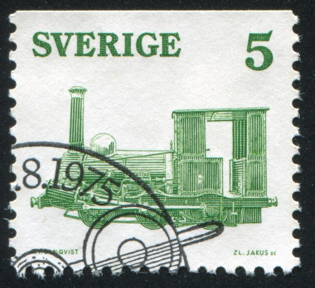 conrod: SWEDEN - CIRCA 1975: stamp printed by Sweden, shows Locomotive Fryckstad, circa 1975