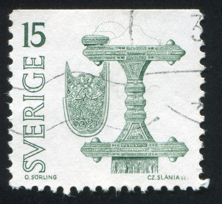 SWEDEN - CIRCA 1975: stamp printed by Sweden, shows Scabbard and hilt, circa 1975