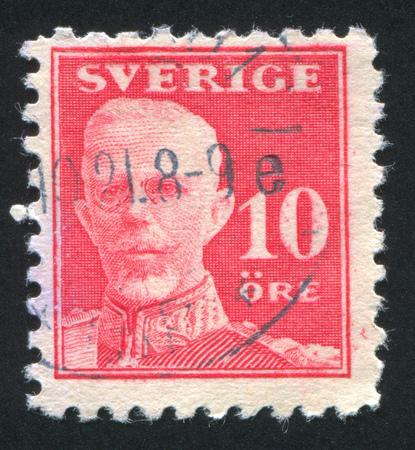gustaf: SWEDEN - CIRCA 1920: stamp printed by Sweden, shows Gustaf V, circa 1920