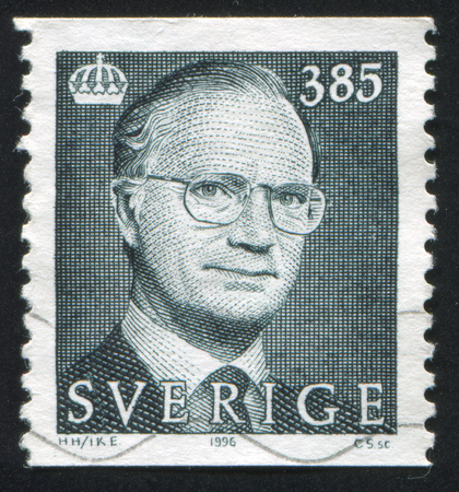 king carl xvi gustaf: SWEDEN - CIRCA 1996: stamp printed by Sweden, shows King Carl XVI Gustaf, circa 1996