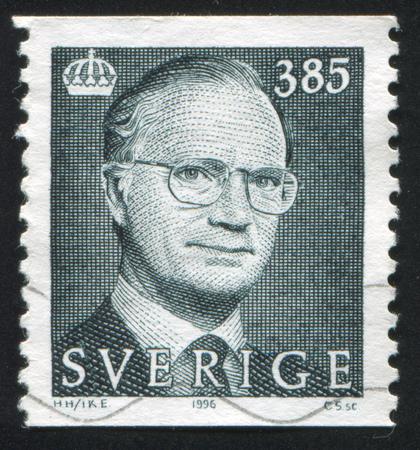 SWEDEN - CIRCA 1996: stamp printed by Sweden, shows King Carl XVI Gustaf, circa 1996