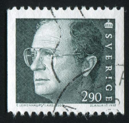 SWEDEN - CIRCA 1993: stamp printed by Sweden, shows King Carl XVI Gustaf, circa 1993
